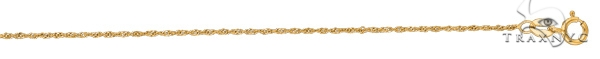 14kt Yellow Gold Diamond Cut Singapore Chain 20 Inches 1 mm Gold