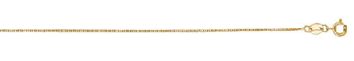 14kt 20 Inches Yellow Gold 0.6mm Shiny Classic Box Chain Gold