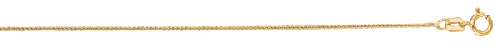 14kt 20 Inches Yellow Gold 0.6mm Shiny Round Diamond Cut Wheat Chain Gold
