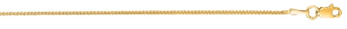 14kt 20 Inches Yellow Gold 1.0mm Shiny Round Thin Franco Chain Gold