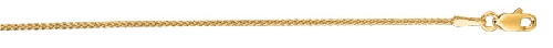 14kt 20 Inches Yellow Gold 1.2mm Shiny Round Wheat Chain Gold