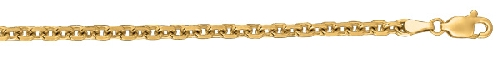14kt 20 Inches Yellow Gold 4.0mm Diamond Cut Cable Link Chain Gold