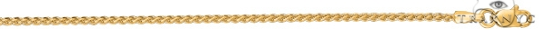 14kt 22 Inches Yellow Gold 1.5mm Shiny Round Wheat Chain Gold