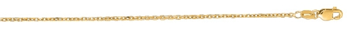 14kt 22 Inches Yellow Gold 1.5mm Diamond Cut Cable Link Chain Gold