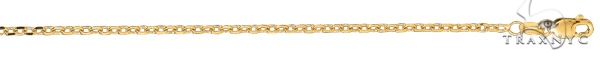 14kt 24 Inches Yellow Gold 1.8mm Diamond Cut Cable Link Chain Gold