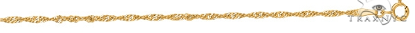 14kt 7 Inches Yellow Gold 1.7mm Diamond Cut Singapore Chain Gold