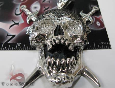 Hip Hop Crazy Skull Pendant Style