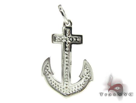 Diamond Anchor Pendant Stone