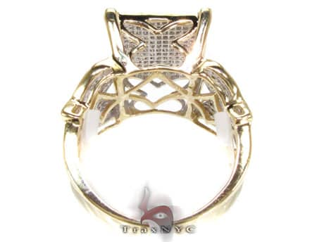 YG Side Butterfly Ring Engagement
