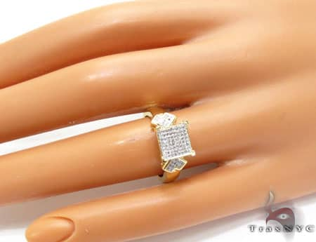 YG White Diamond Ring Anniversary/Fashion
