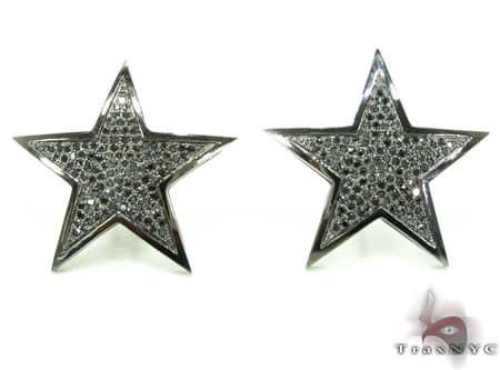 Black Diamond Micro-Pave Star Earring Stone