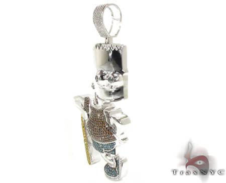 Bart the Skater Pendant 2 Metal