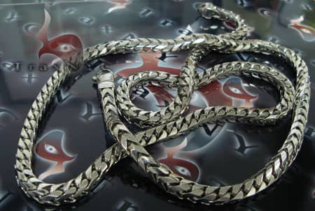 Solid XL Franco Chain 36 Inches, 7.5mm, 306 Grams Gold