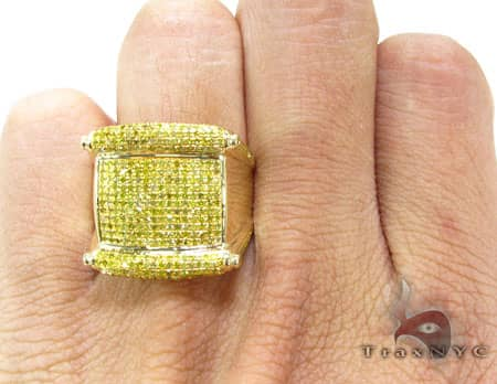 Canary Harp Ring Stone