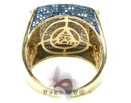 YG Multi Color Harp Ring Stone