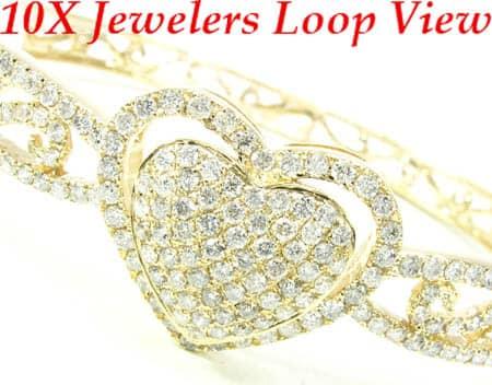 YG Center Heart Bracelet Diamond