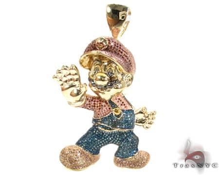 Custom Jewelry - YG Super Mario Pendant 16624 Metal