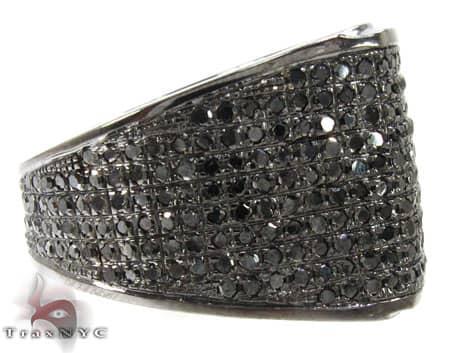 Mens Black Diamond All Around Wedding Ring Stone