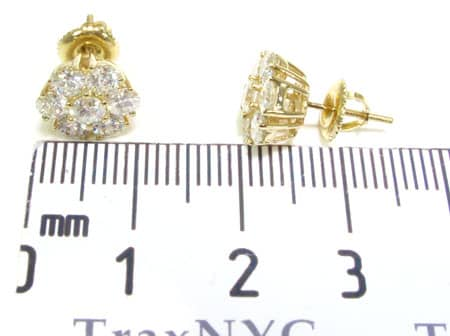YG Cluster Earrings Stone