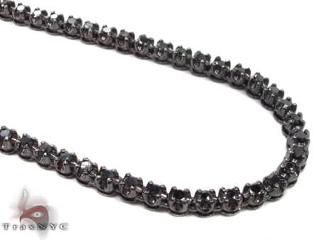 Black Gold Diamond Chain 30 Inches, 4mm, 43 Grams Diamond