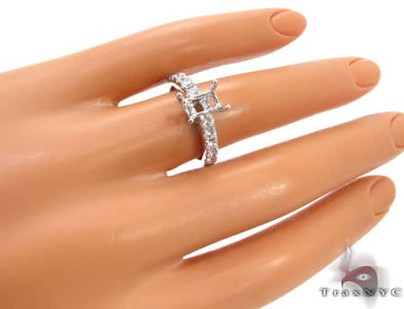 Prong Eternity Semi Mount Ring Engagement