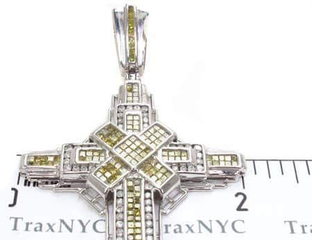 Lavish Canary Cross Crucifix Diamond
