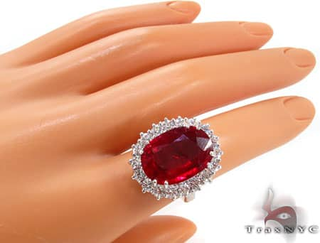 Ruby Island Ring 7 Anniversary/Fashion