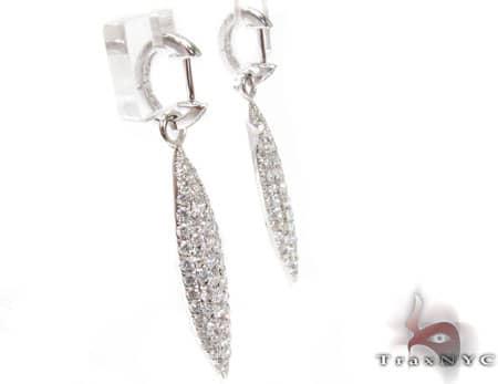 Prong Leaf Earrings  Stone