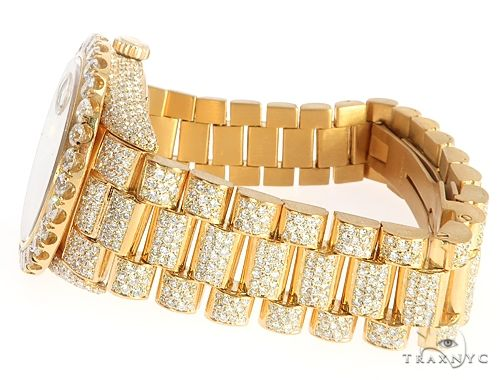 36mm Fully Iced Out 18K Yellow Gold Rolex Presidential Watch 65021 Diamond Rolex Watch Collection