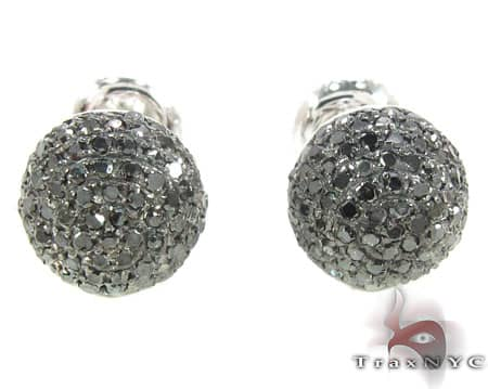 Large Black Berry Studs Stone