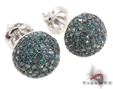 Large Blue Berry Studs Stone
