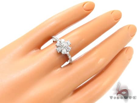 Sunflower Diamond Ring Engagement