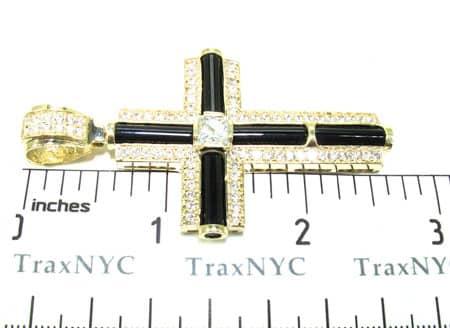 CZ and Gold Fury Cross Crucifix Gold