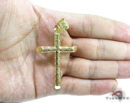 Slim Gold Cross Crucifix 5 Gold
