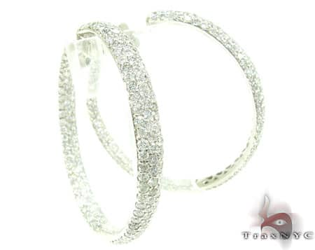 Parisian Diamond Hoops Stone