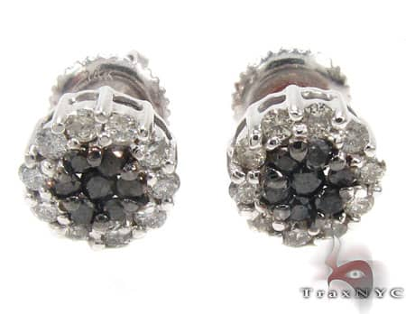 Zebra Cluster Earrings Stone