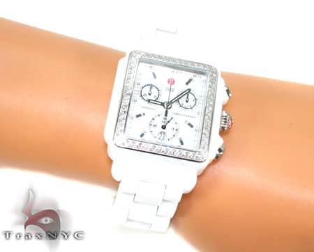 Michele Deco White Ceramic Watch MWW06F000002 Michele Diamond Watches