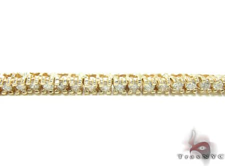 Yellow Gold Diamond Chain 30 Inches, 3mm, 39 Grams Diamond