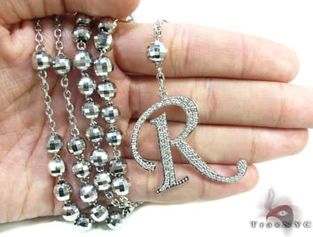 Custom R Initial Rosary Chain Rosary