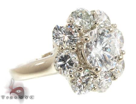 Diamond Flower Ring Engagement