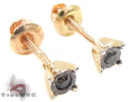 Yellow Gold Kingdom Earrings 3 Stone
