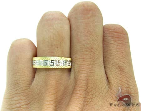 Two Tone Egyptian Design Ring Style