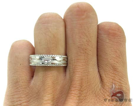 White Gold Wave Ring Style