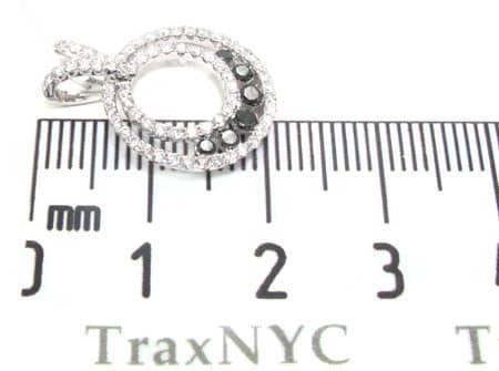 Classic Black & White Diamond Pendant  Stone