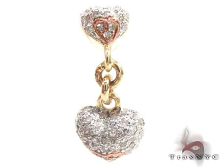 Dangle Heart Pendant Stone