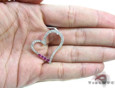 Pink Sapphire Heart Pendant Stone