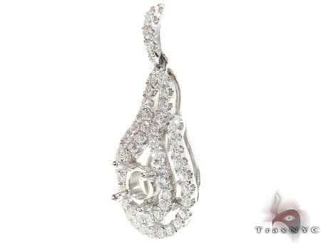 Pear Shaped Semi Mount Pendant Stone