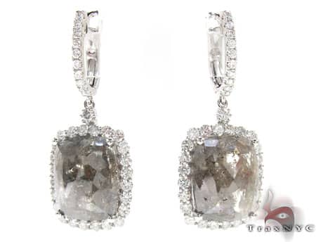 Light Brown Quartz Heiress Dangle Earrings Stone