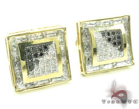 Black & White NYC Diamond Earrings Stone