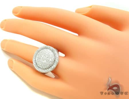 White Sphere Ring Style